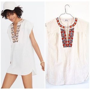 NEW Madewell embroidered Belize cover up tunic 🌸